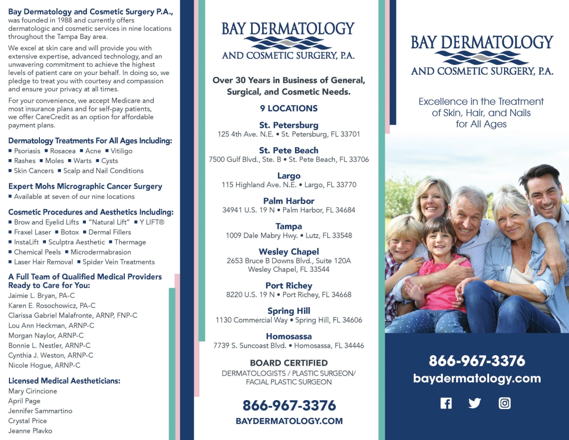 Bay Dermatology Trifold 2019_outside_new_100419